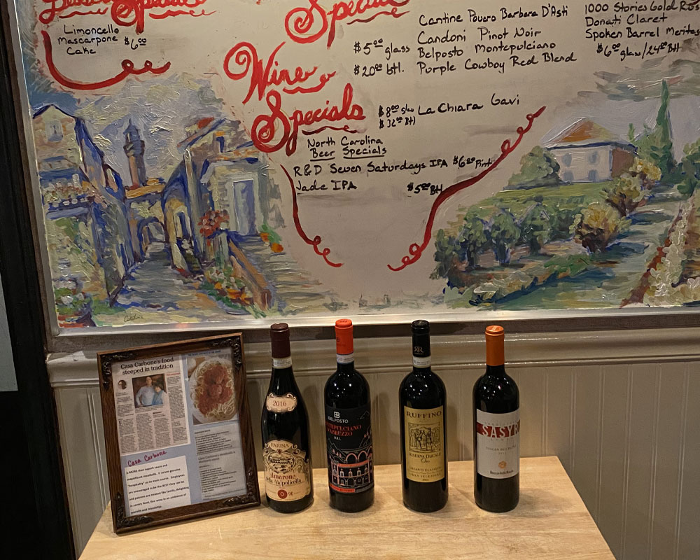 Casa Carbone - ask about our wine list